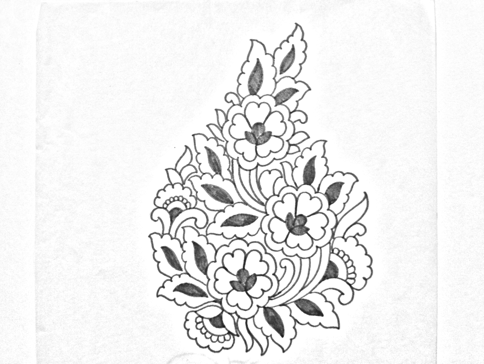 Hand Embroidery Design How To Draw An Easy Flowers Design For Hand
