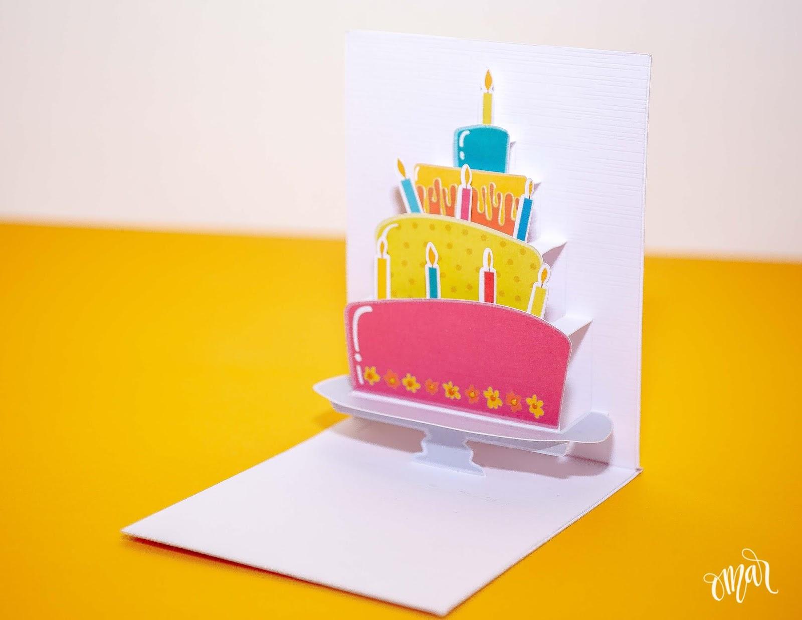 Astonishing Awesome Svgs Layered Cake Pop Up Bithday Card Personalised Birthday Cards Petedlily Jamesorg