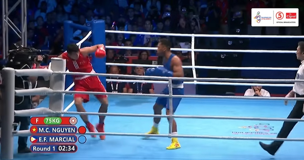 Eumir Marcial Knocks Out Manh Cuong Nguyen in 71 seconds (VIDEO) 2019 SEA Games GOLD MEDAL
