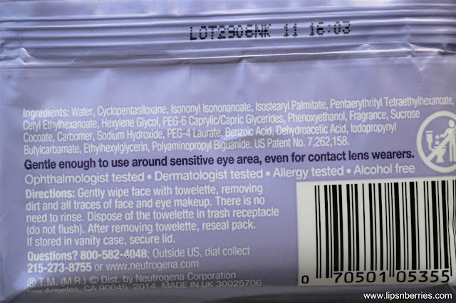 Neutrogena cleansing wipes review