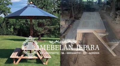 Meja Payung Minimalis Jati Jepara