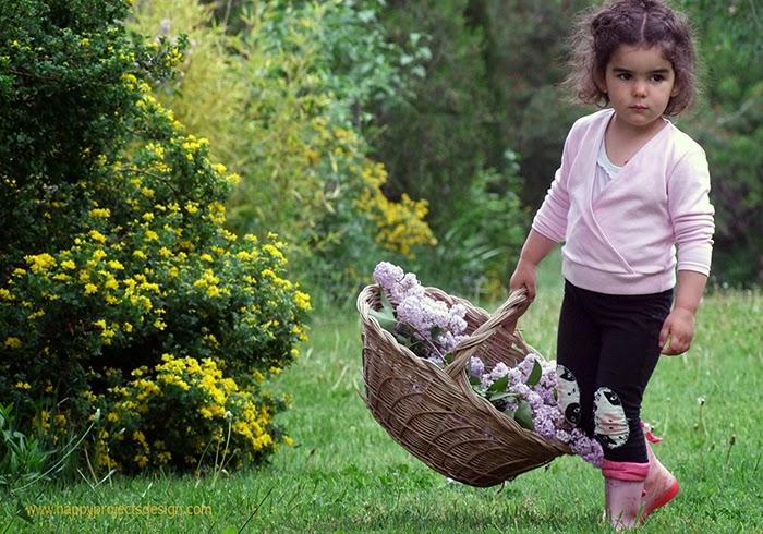 Decoración cumple jardín: lilares