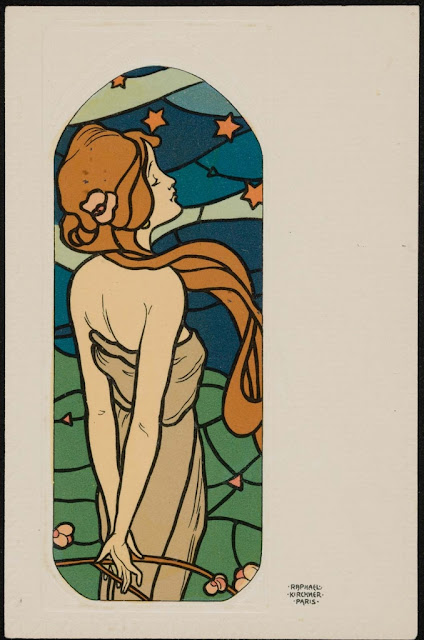 Raphael Kirchner - Stars in Night Sky 1903