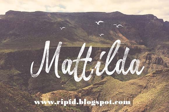 Mattilda Font Free Download,