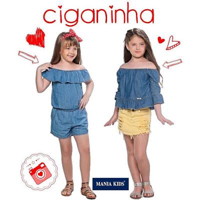 blusa ciganinha para meninas