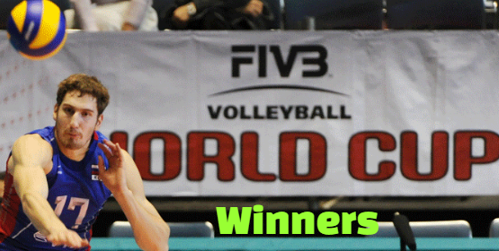 fivb, volleyball, world cup, men's, champions, winners.