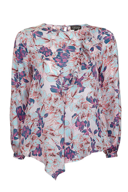 Topshop long sleeve floral top