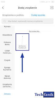 Dodawanie Xiaomi Mi Electric Toothbrush w aplikacji Mi Home krok 2