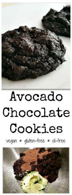 Vegan Chocolate Avocado Cookies