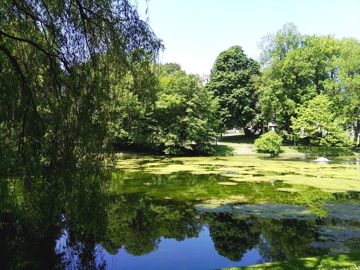 parc léopold bruxelles balade étangs