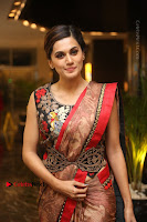 Tapsee Pannu Latest Stills in Red Silk Saree at Anando hma Pre Release Event .COM 0073.JPG
