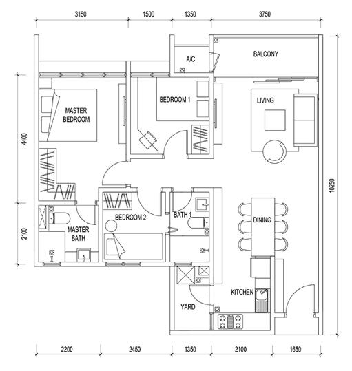 Floor plan feng shui for Best feng shui floor plan