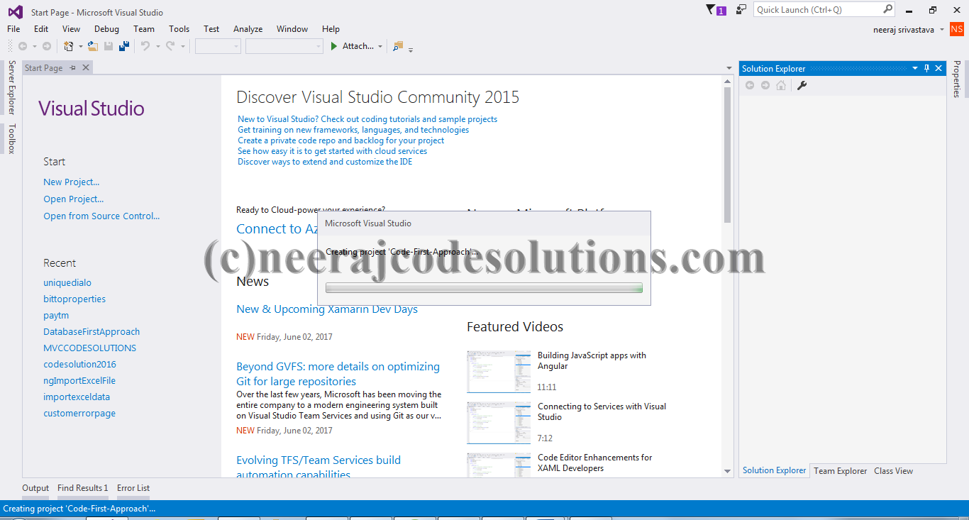 Entity Framework Code First Approach in MVC with example