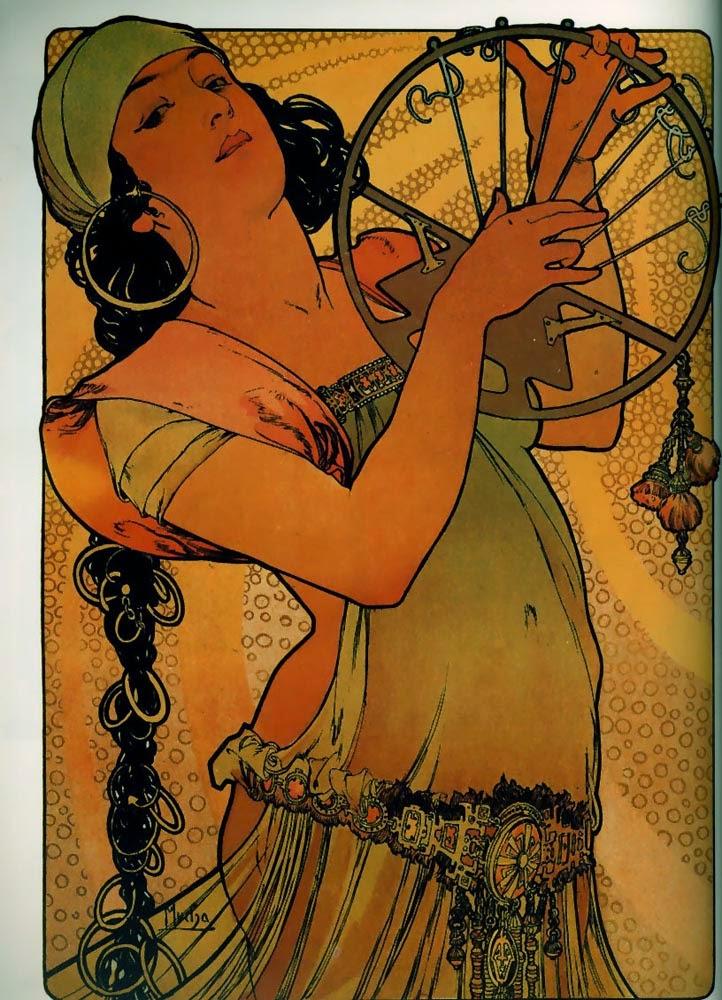 Salomé - Alphonse Mucha e suas principais pinturas ~ (Art Nouveau) Tcheco