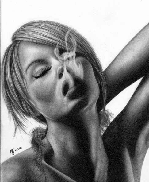 Awesome Portrait Drawings by Justine