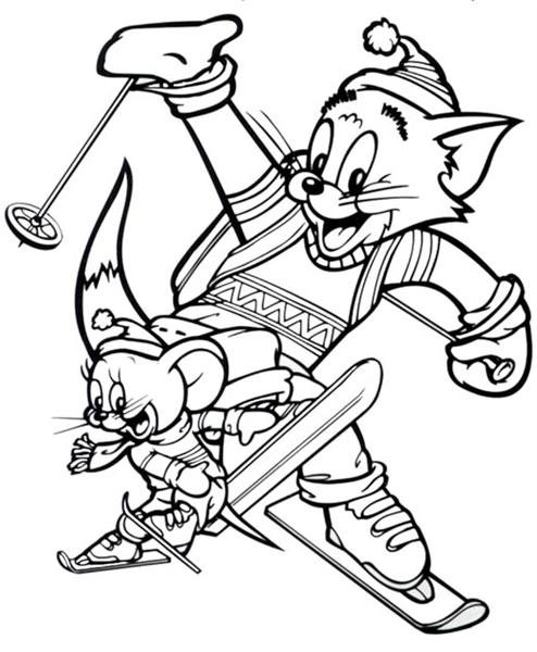Tom and Jerry Coloring Pages Learn To Coloring