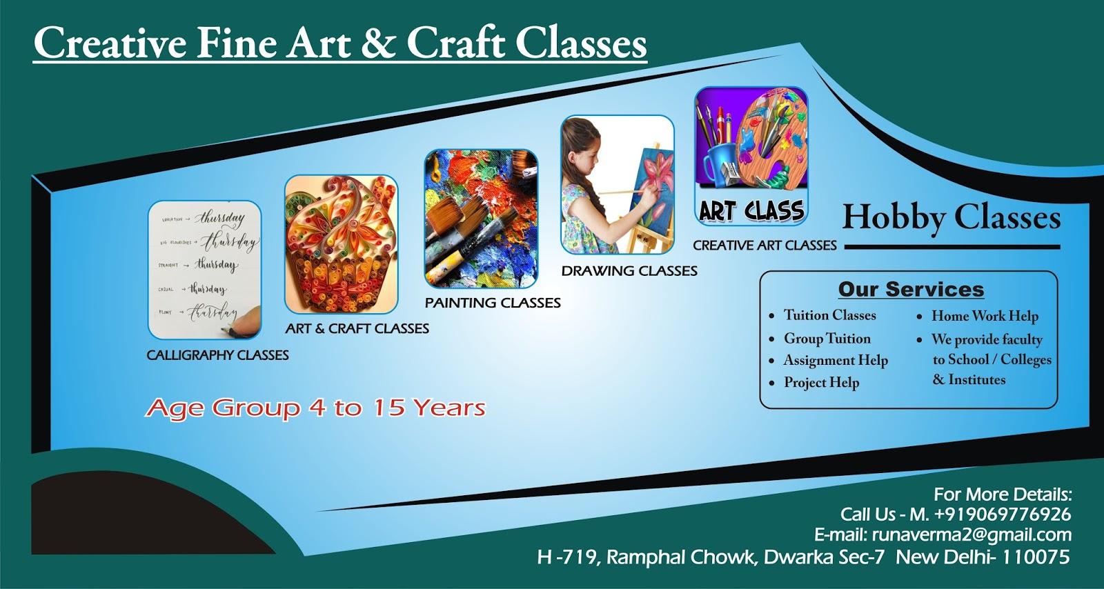 best fine art creative classes in dwarka new delhi drawing