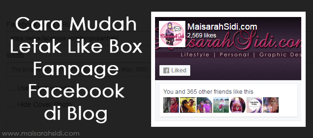Like Box Facebook di blog