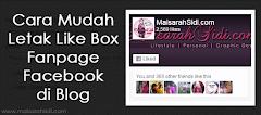 Cara Mudah Letak Like Box Fanpage Facebook di Blog