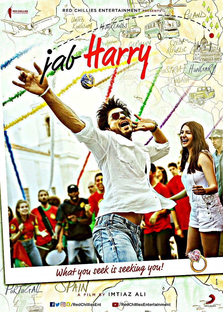 Shah Rukh Khan and Anushka Sharma Jab Harry Met Sejal First Look Poster