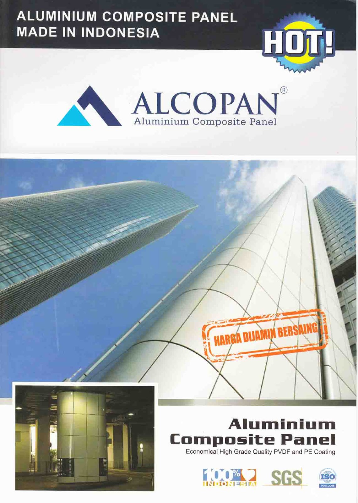 Aluminium Composite Panel Alcopan Media Bangunan