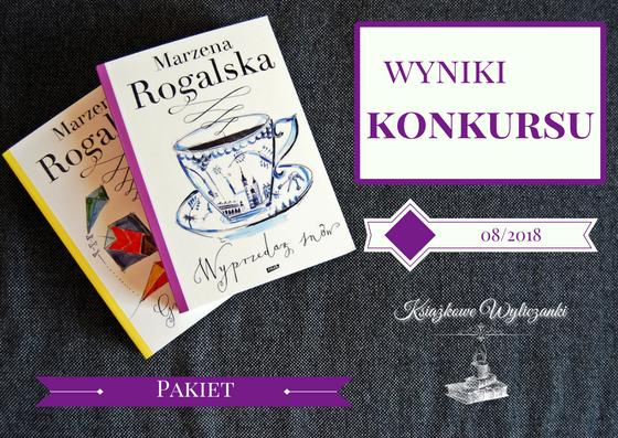 """WYNIKI KONKURSU """"Wyprzedaż snów"""" i """"Gra w kolory"""" Marzena Rogalska"""