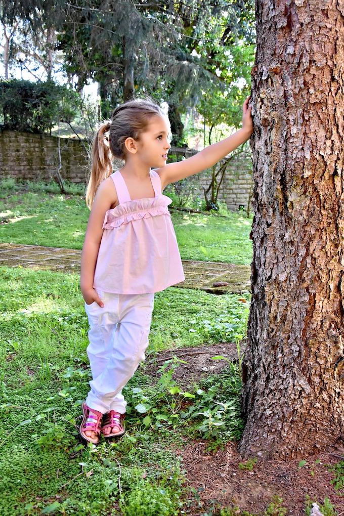 Moda Bambini: top con fiocco sul retro