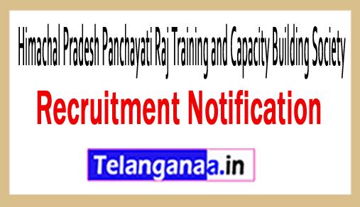 Himachal Pradesh Panchayati Raj Training and Capacity Building Society HPPRTCBS Recruitment