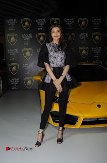 Actress Kajal Aggarwal Stills in Black Dress at Lakme Fashion Week Summer Resort 2017  0016.jpg