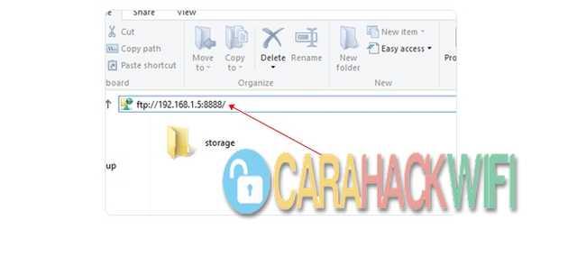 Akses folder file android di komputer