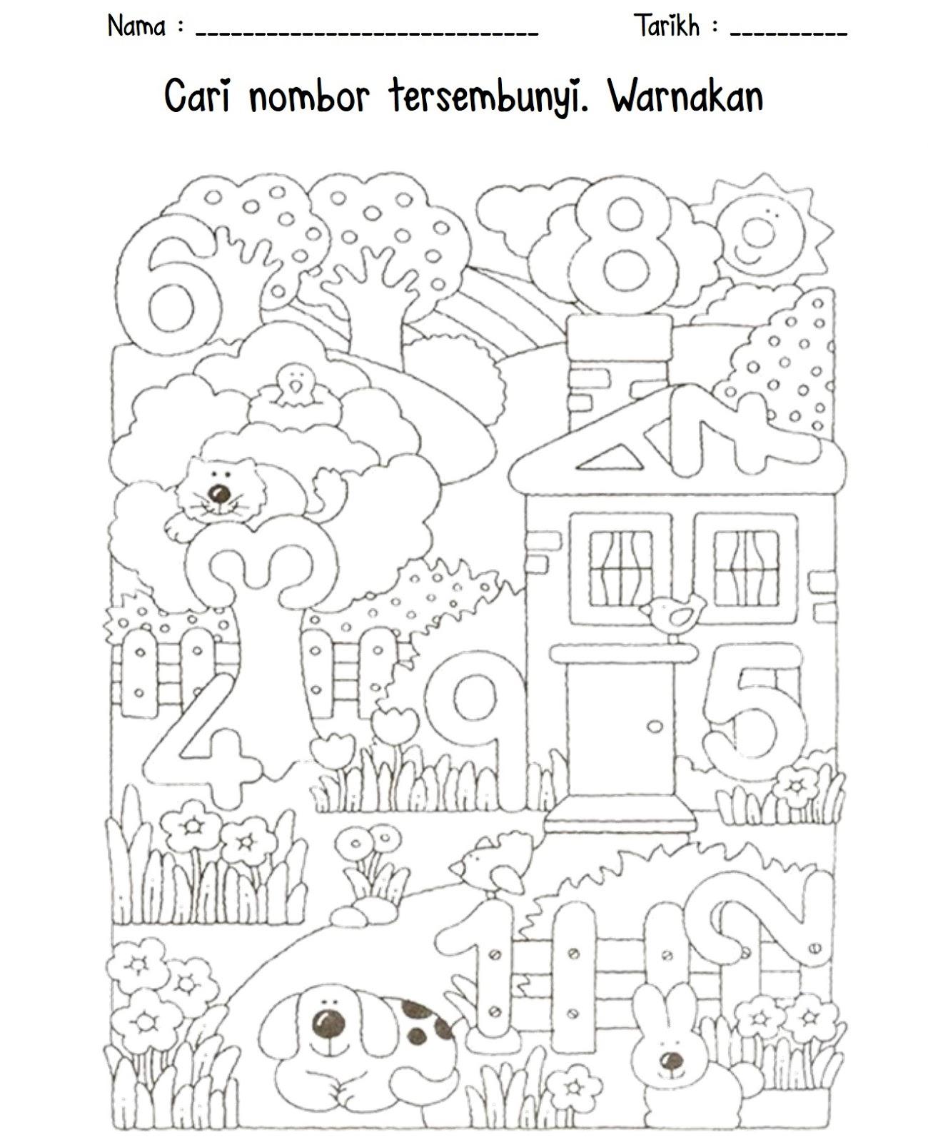 Cikgu Eela Il Preschoolers Pce Lembaran Kerja Awal Nombor 1 10