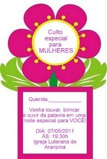 Artes Da Catis Cartãoconvite Para O Dia Das Mães