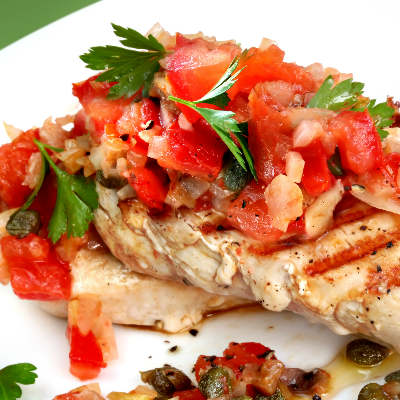 Healthy Balsamic Bruschetta Chicken