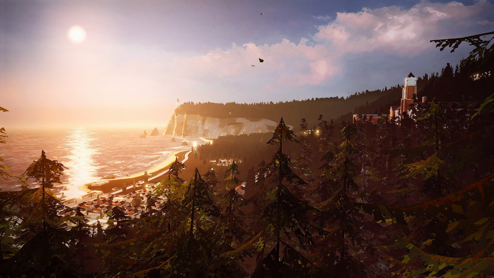 Life Is Strange 2 Wallpaper: Arcadia Bay Menu Backround 2160p No Title