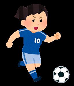 サッカー選手のイラスト(女性・アジア人)