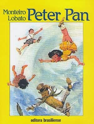 peter pan - monteiro lobato - j.m. barrie - editora brasiliense - sítio do picapau amarelo - manoel victor filho - jacob levitinas - década de 1990 - década de 2000 - capa de livro - bookcover