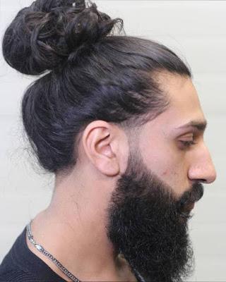 peinado recogido para hombre chonguito