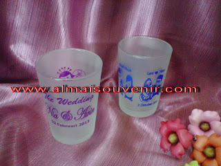 souvenir pernikahan, souvenir pernikahan eksklusif, souvenir pernikahan gelas mini dove, souvenir nikah, souvenir nikah murah