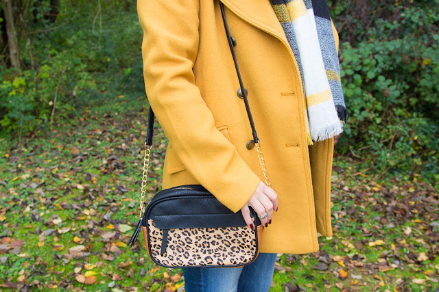 promod - caban - moutarde - sac - leopard