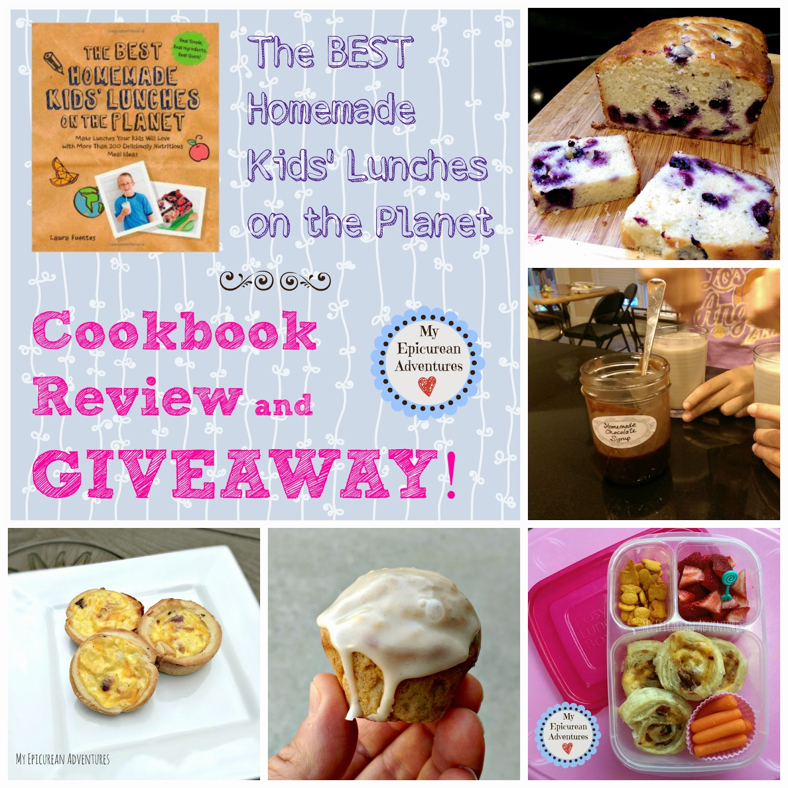 The Best Homemade Kids' Lunches on the Planet Cookbook Review and Giveaway. Ends at 11:59pm on Thursday 4/23/15