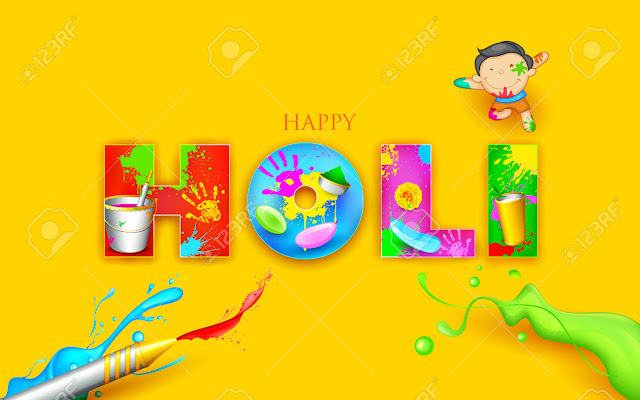 Holi festival drawing pictures