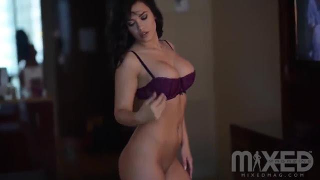Amber Fields bikini