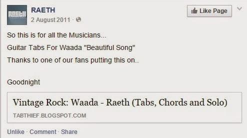 Waada - Raeth (Tabs, Chords and Solo) - VINTAGE ROCK