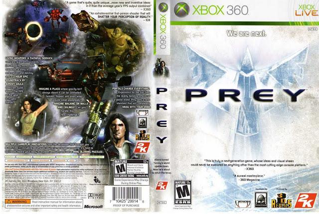 Capa Prey Xbox 360