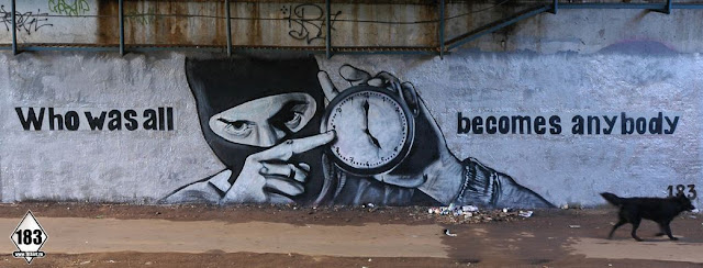 Intervención artística urbana de P183 en Moscú