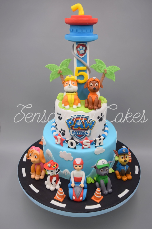 The Sensational Cakes Tower Paw Patrol And Friends Theme 3d Cake