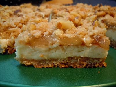 The Savvy Kitchen: Apple Streusel Cheesecake Bars