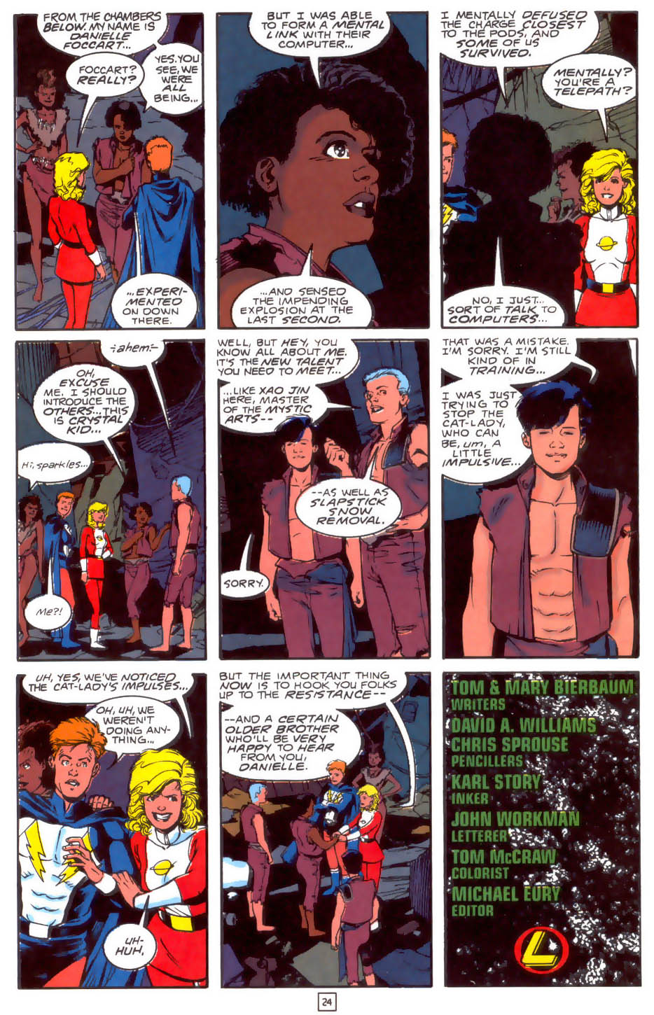 Legion of Super-Heroes (1989) 33 Page 24