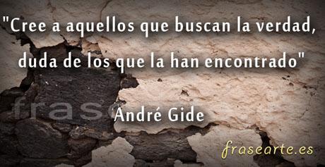 Frases para buscar la verdad, André Gide