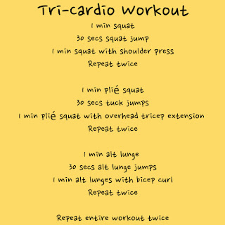 Tri cardio workout | FroBunni
